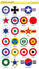 the best air forces in the world, emblems