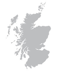 grey map of Scotland