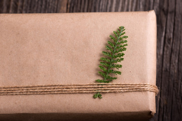 wrapping christmas package