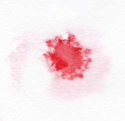 Blot the wet watercolor on textured paper