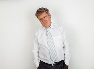 handsome businessman on white background