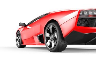 Red luxury sport car