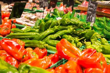fresh pepper in supermarket