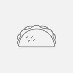Taco line icon.