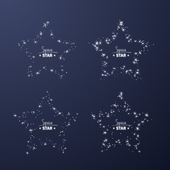 Set of star frames for your text from shiny stars.