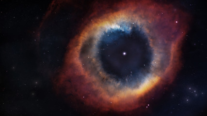Wall Mural - The Helix Nebula in deep space. Elements of this image furnished by NASA