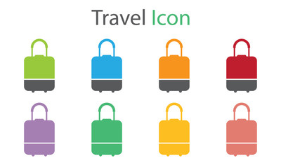 Travel Icon Vector With Eight Colors Options
