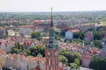 les rues de gdansk en Pologne