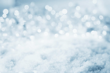 Abstract cold winter background with snow