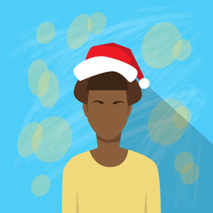Profile Icon African American Female New Year Christmas Holiday
