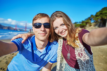 Young couple in San Francisco, California, USA