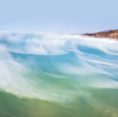 Fototapete - Blurred Wave Motion