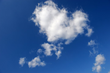 real nature white cloud in heart shape