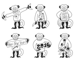 Happy new year monkey