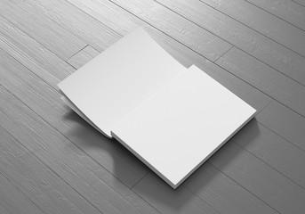Katalog Buch offen weiß Vorlage