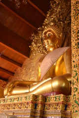 Buddha image in north of Thailand temple.