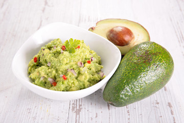 Papiers peints Entree bowl of guacamole