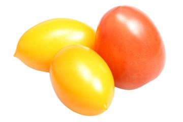Fresh tomato on a white background