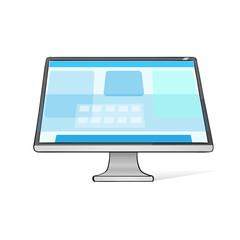 Computer Screen Workstation Hands Draw Sketch