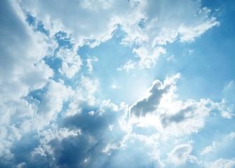 Aluminium Prints Heaven Cloudy sky #2