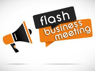megaphone : flash business meeting