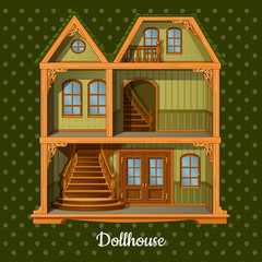 Modern three-storey dolls house