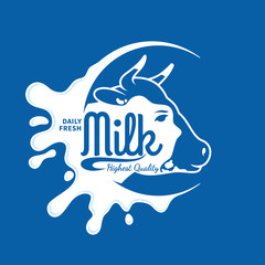 Milk Icon, Splash, Logo Template