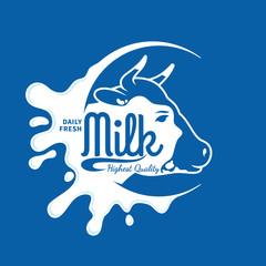 Milk Icon, Splash, Logo Template