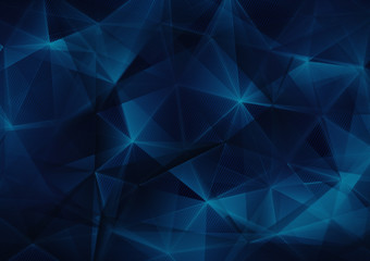 dark blue triangles web abstract background