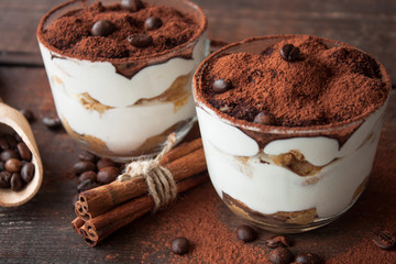 Papiers peints Dessert Tiramisu in a glass cup