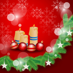 Christmas Background - Vector illustration, Graphic Design