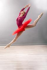 In de dag Aquarel Gezicht Ballerina is wearing a white tutu and pointe shoes