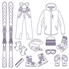 Skiing. Extreme winter sports.