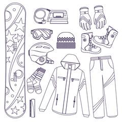 snowboard. Extreme winter sports.
