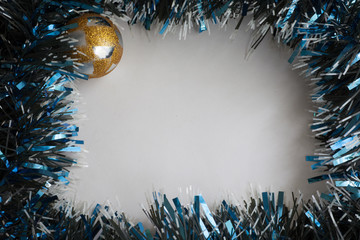 Christmas tinsel decorations