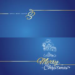 Christmas New Year Santa Claus stars blue background
