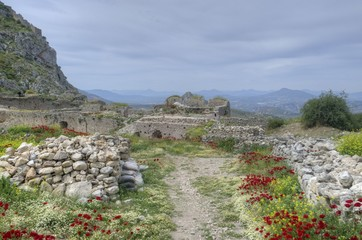 Acrocorinth in Greece