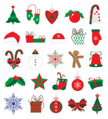 Christmas and New Year stickers set