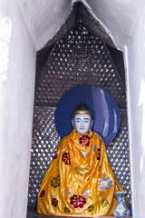 buddha statue burma style in yangon, myanmar