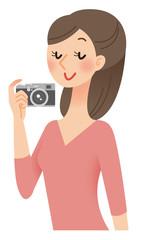 カメラ 女性