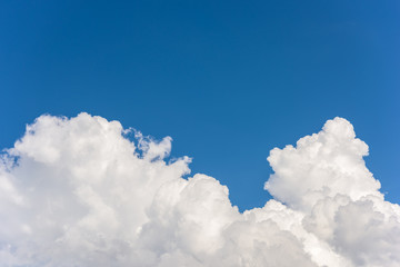 cloud closeup with blue sky