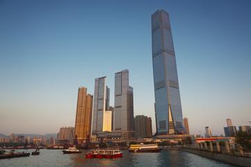 modern buildings in Hong Kong city
