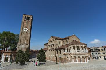 Fototapete - Basilica dei SS Maria e Donato at Murano island, Venice, Italy