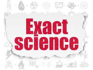 Science concept: Exact Science on Torn Paper background