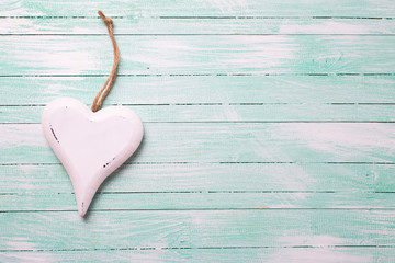 Background with white decorative  heart