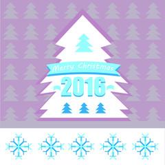 Violet holiday tree