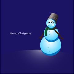 Christmas snowman in pail