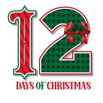 The Twelve days of Christmas EPS 10 vector typographic illustration