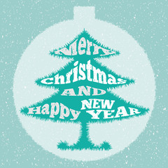 Christmas tree. Vector illustration.