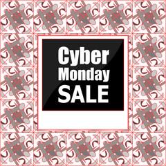 Sale banners design. Cyber monday sale inscription design template. Cyber monday sale concept. Vector illustration